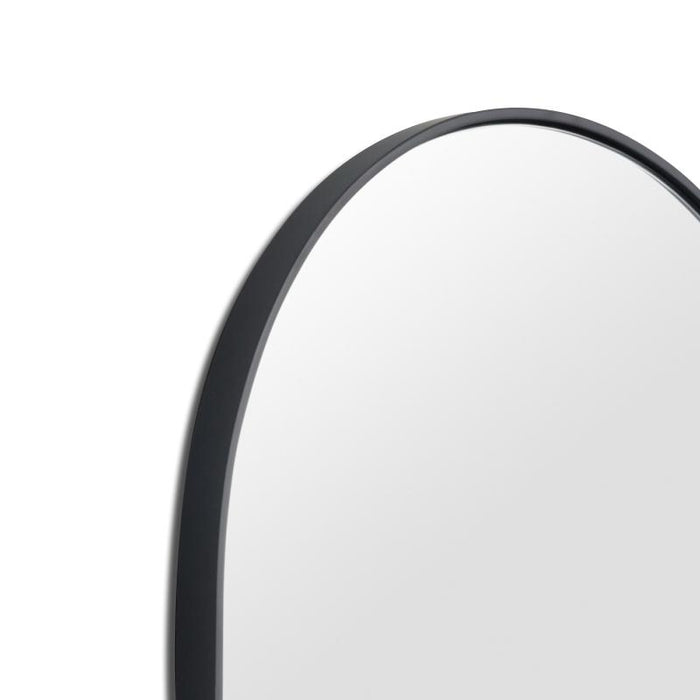 Bjorn Large Oval Mirror - Black