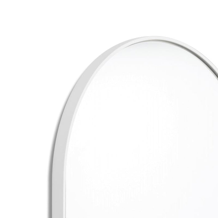 Bjorn Large Oval Mirror - Bright White
