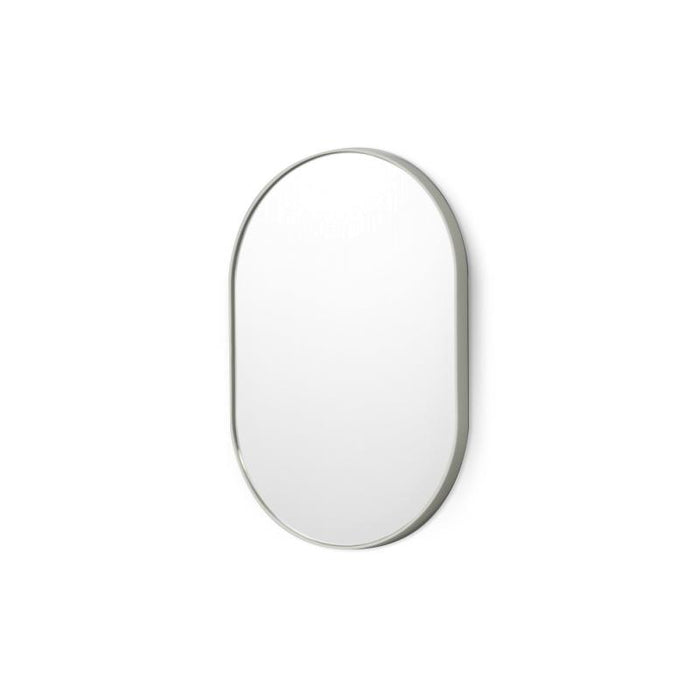 Bjorn Small Oval Mirror in Dove
