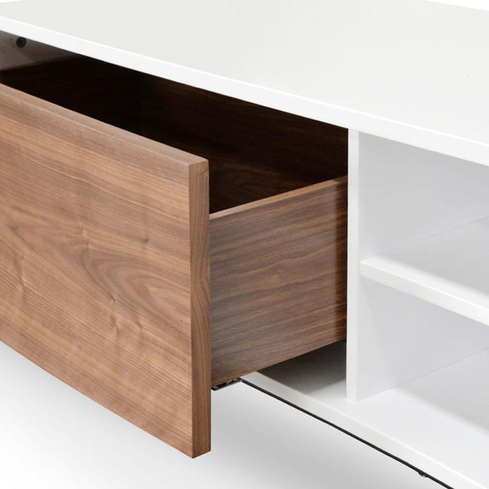 Blake 2.3m TV Entertainment Unit - Lowline - Walnut