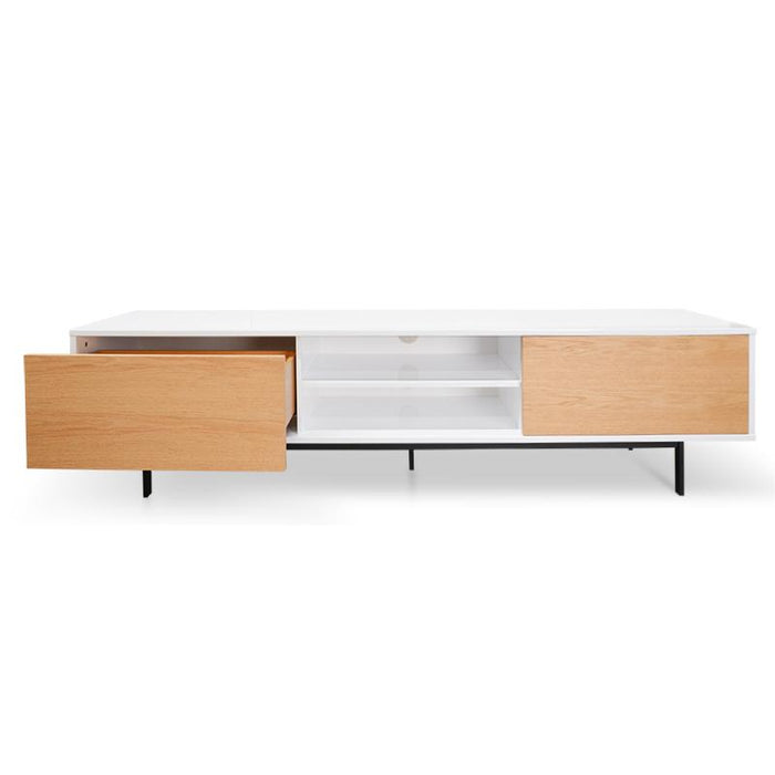 Blake 2m TV Entertainment Unit - Lowline - Natural