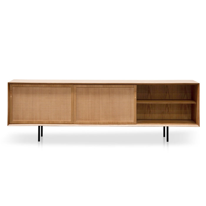 Bolton 2.2m Wooden TV Unit - Natural