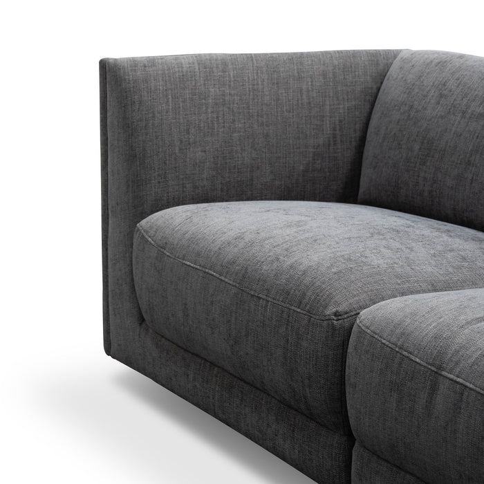 Bradford 5 Seater Corner Sofa - Dark Charcoal Fabric