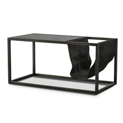 Brandon 80cm Black Marble Coffee Table