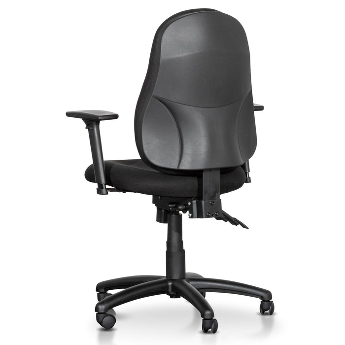 Brent High Back Fabric Office Chair - Black