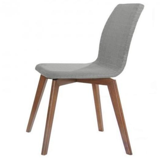 Campbell Linen Fabric Dining Chair - Grey