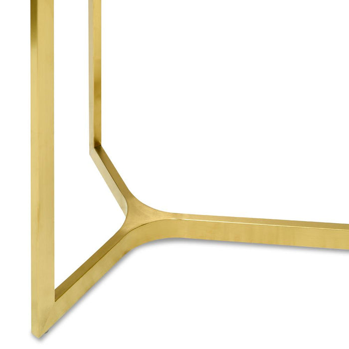 Cannon 1.2m Glass Console Table - Gold Base