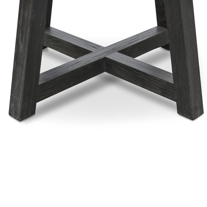Carlson 130cm Black Marble Dining Table