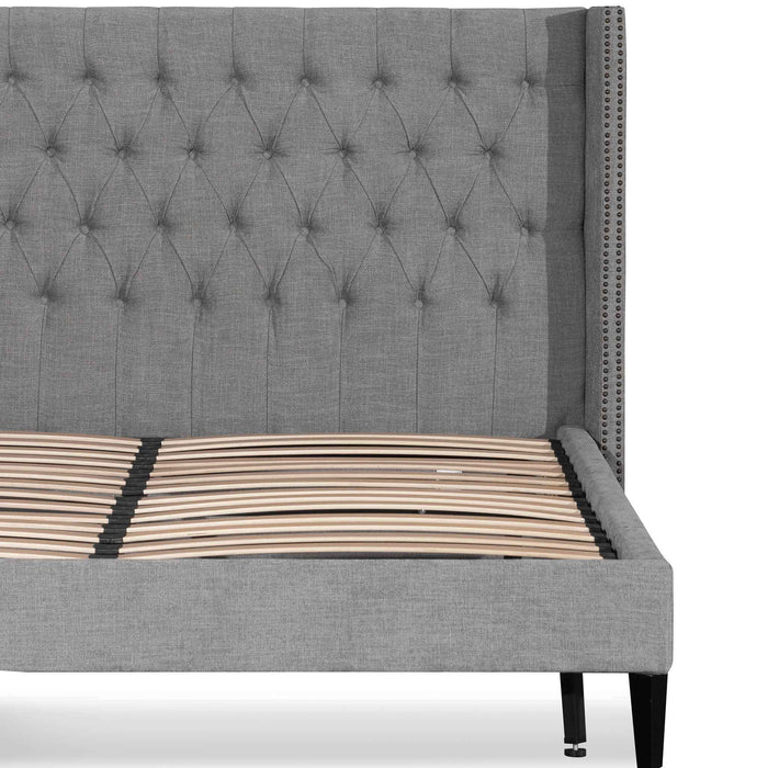 Carolina King Bed Frame - Flint Grey