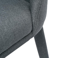 Carter Fabric Dining Chair - Gunmetal Grey