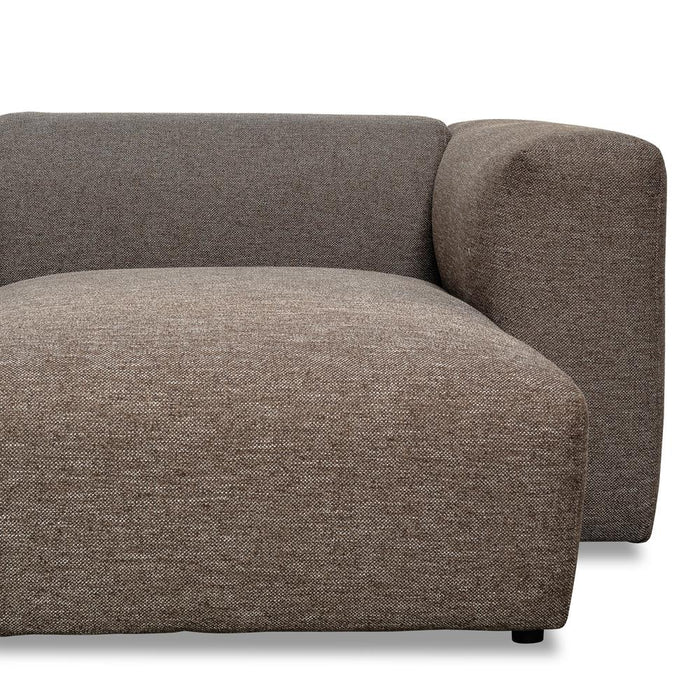 Celine 3 Seater Right Chaise Sofa - Stone Charcoal
