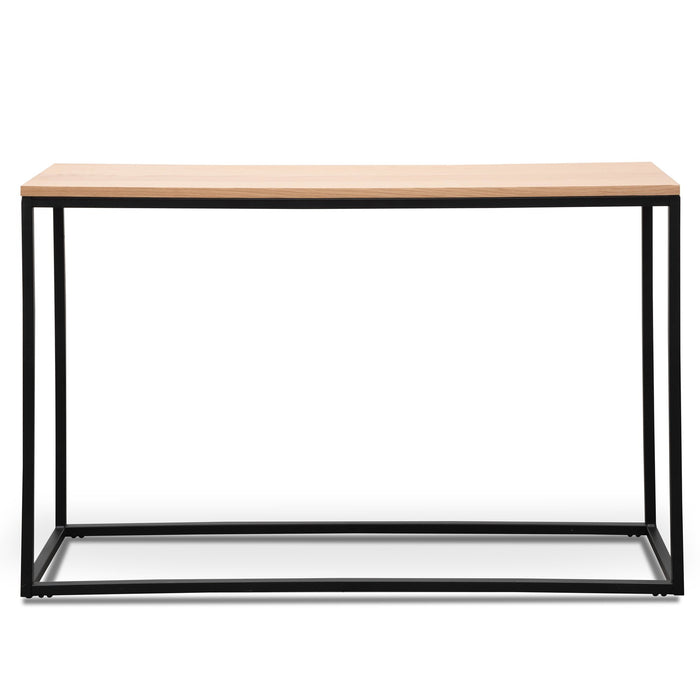 Chelsa Natural  Console Table - Black