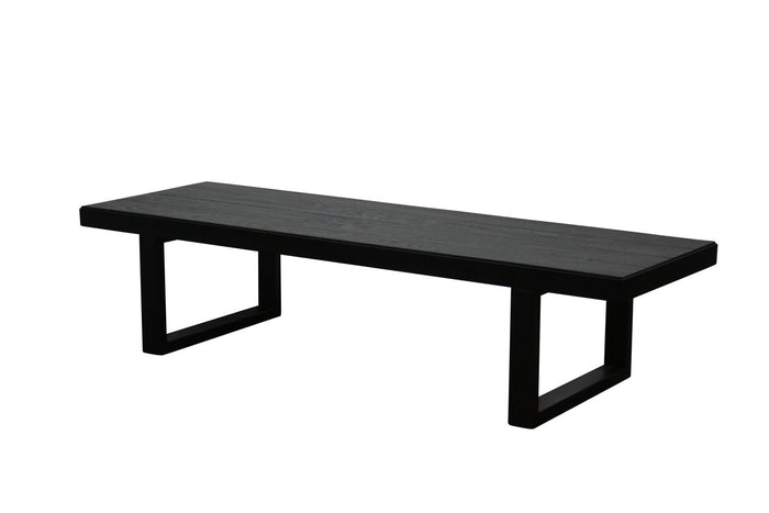 Chicago 1.5m Oak Coffee Table - Black