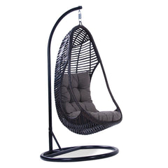 Cici Wicker Outdoor Hanging Egg Chair - Textured Grey