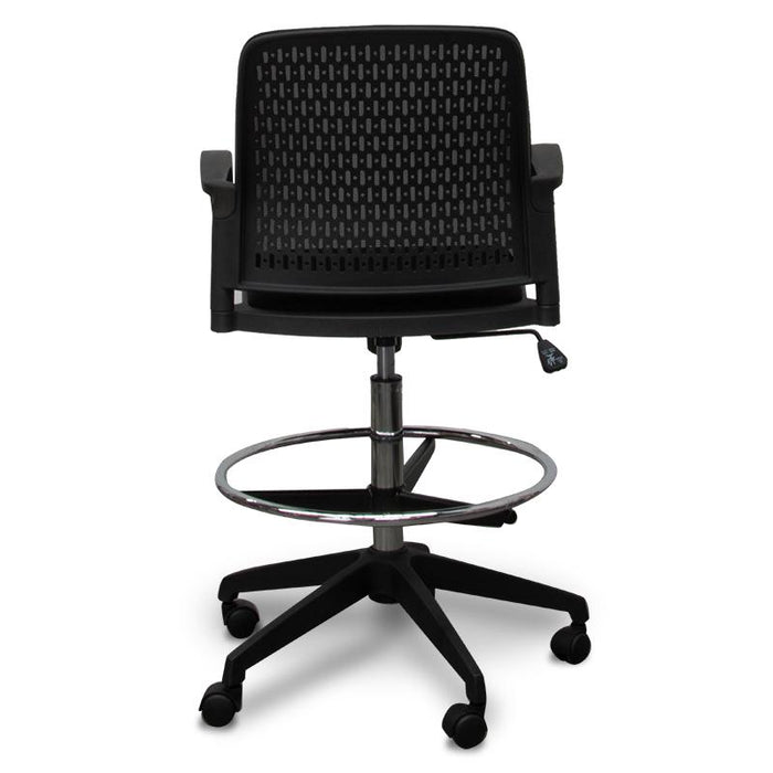 Clayton Drafting Office Chair - Black