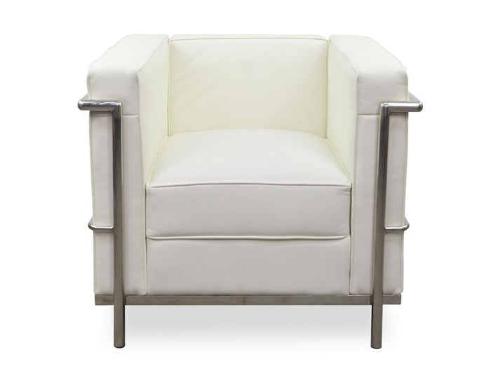 Clearance - Armchair - Le Corbusier LC2 Replica - White