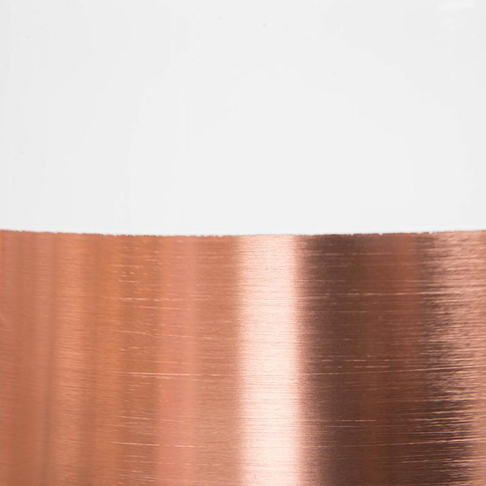 Clearance - Fontain Cylinder Pendent Lamp - Rose Gold - White