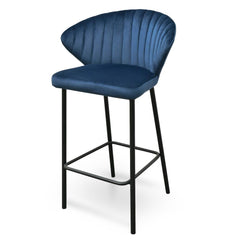 Clearance - Heidi Bar Stool - Navy Blue