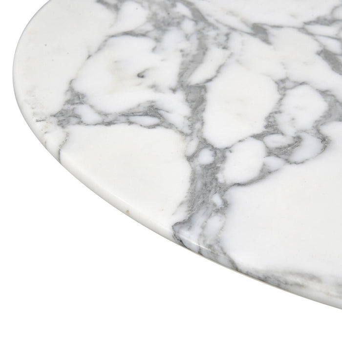 Clearance - Iona 0.7m Round Marble Bar Table