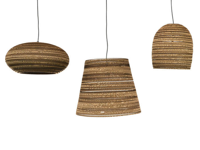 Clearance - Replica Recycled Carboard Pendant Lamp - Cone