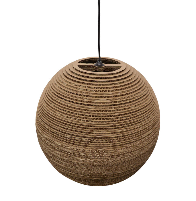 Clearance - Replica Recycled Carboard Pendant Lamp - Moon