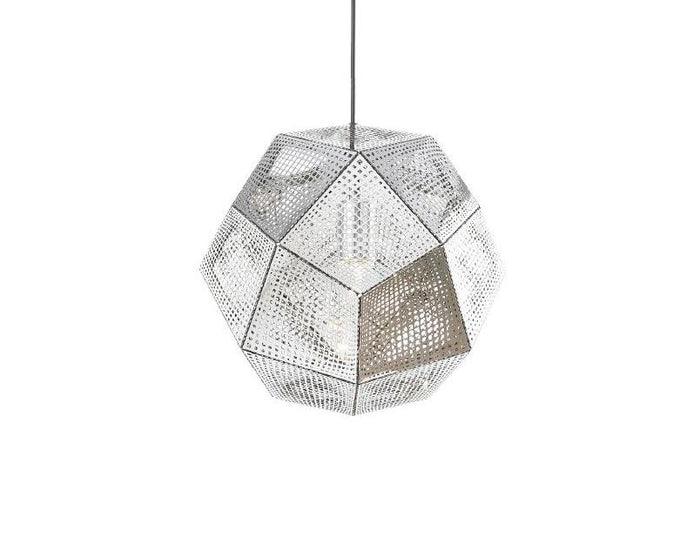 Clearance - Replica Tom Dixon Etch Shade Pendant Lamp - Silver