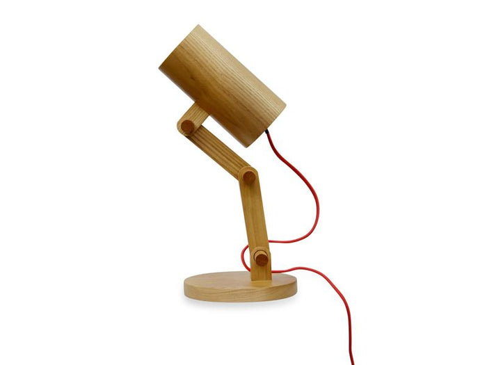 Clearance - Wood Cylinder Table Lamp
