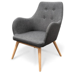 Cleo Fabric Lounge Chair - Graphite Grey