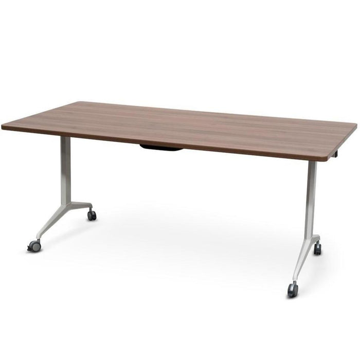 Clint Foldable Training Table – Kass Walnut