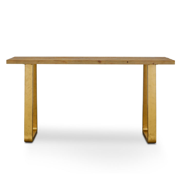 Cooper 1.6m Reclaimed Pine Narrow Wood Console Table