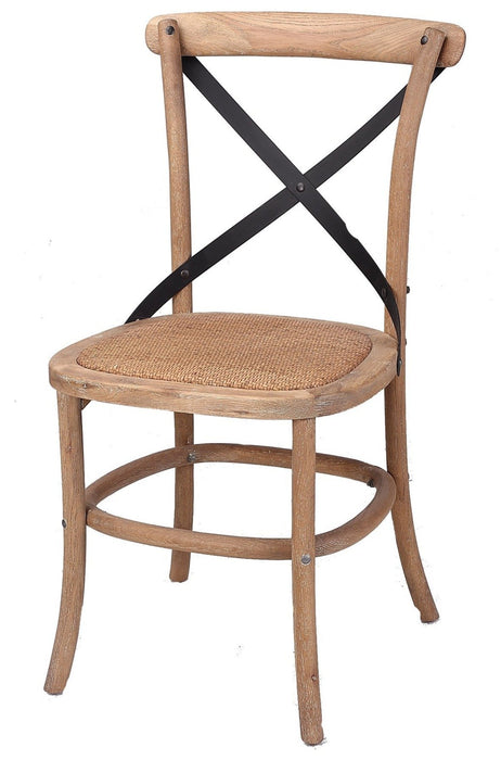 Corona Cross Back Dining Chair Distressed Natural