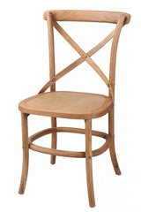 Corona Cross Back Dining Chair With Solid Seat
