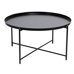 Cosmo Round Metal Tray Coffee Table - Black