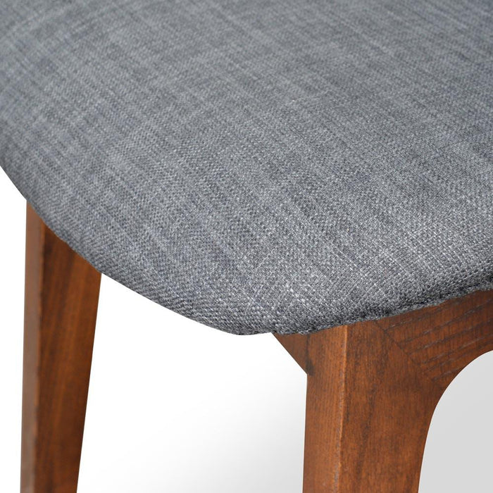 Cozy Dining Chair - Charcoal Cushion - Walnut Legs