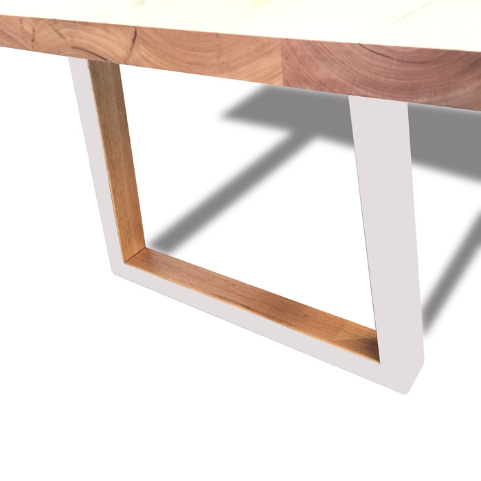 Custom Archer 3m Victorian Ash Timber Dining Table - White Legs