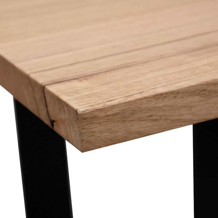 Custom Grange 2.4m Messmate Dining Table - Black Legs