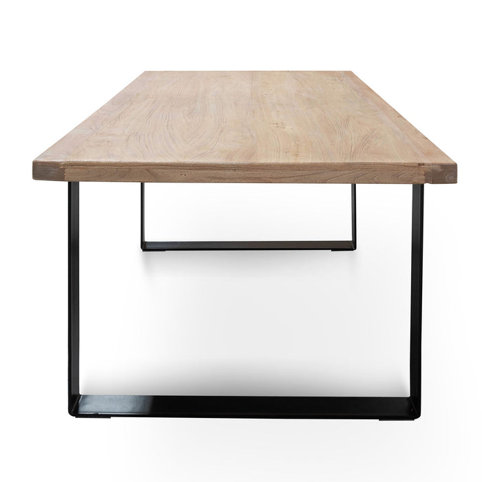 Dalton Reclaimed Wood 2m Dining Table  - Rustic Natural