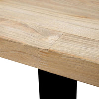 Dalton Reclaimed Dining Table 2.4m - Rustic Natural - Upgraded Top