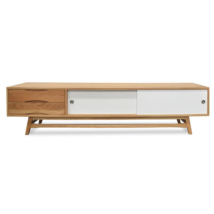 Dane 2.1m TV Entertainment Unit - White