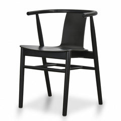 Dean Dining Chair - Black Shell - Black Seat