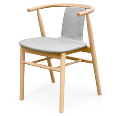 Dean Dining Chair - Light Grey - Natural Legs