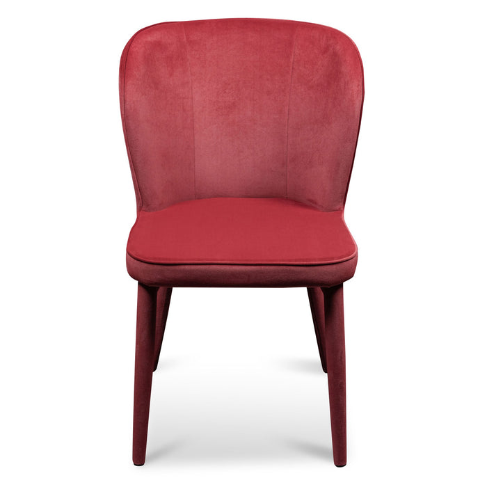 Deena Dining Chair - Ruby Red Velvet