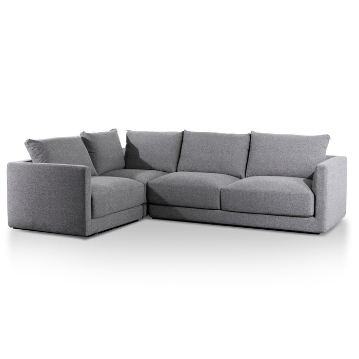 Delia Fabric Left Corner Sofa - Rock Grey