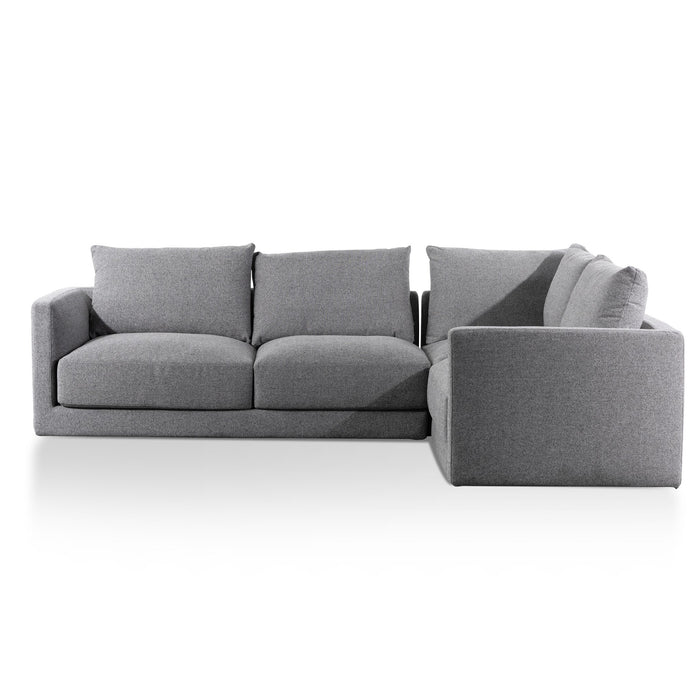 Delia Fabric Right Corner Sofa - Rock Grey