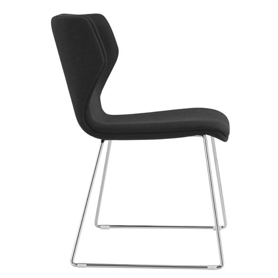 Demi Fabric Visitor Chair - Charcoal