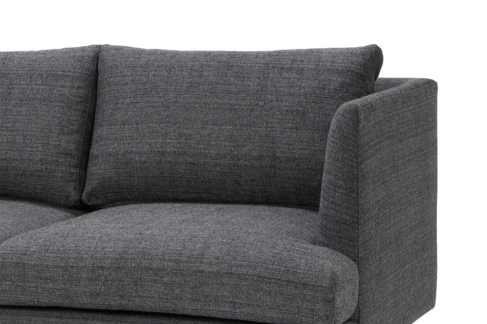 Denmark 3 Seater Fabric Sofa - Metal Grey