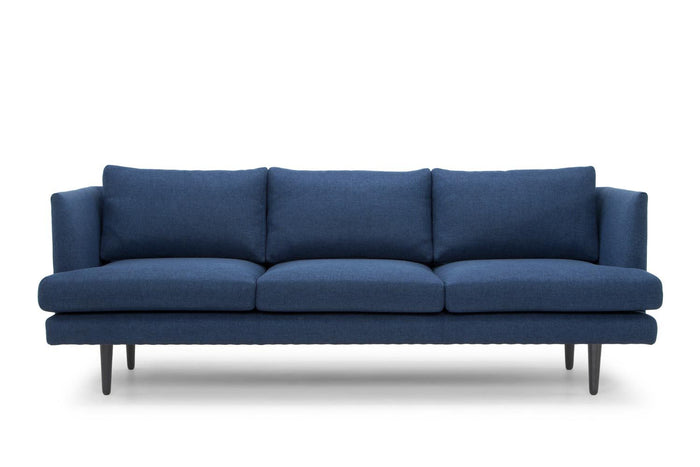 Denmark 3 Seater Fabric Sofa - Navy