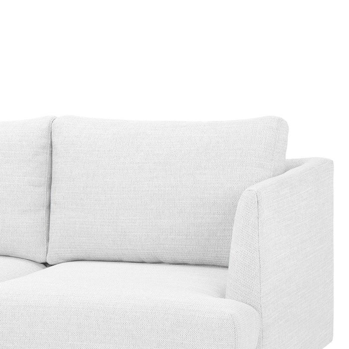 Denmark 3 Seater Sofa - Light Texture Grey with black legs