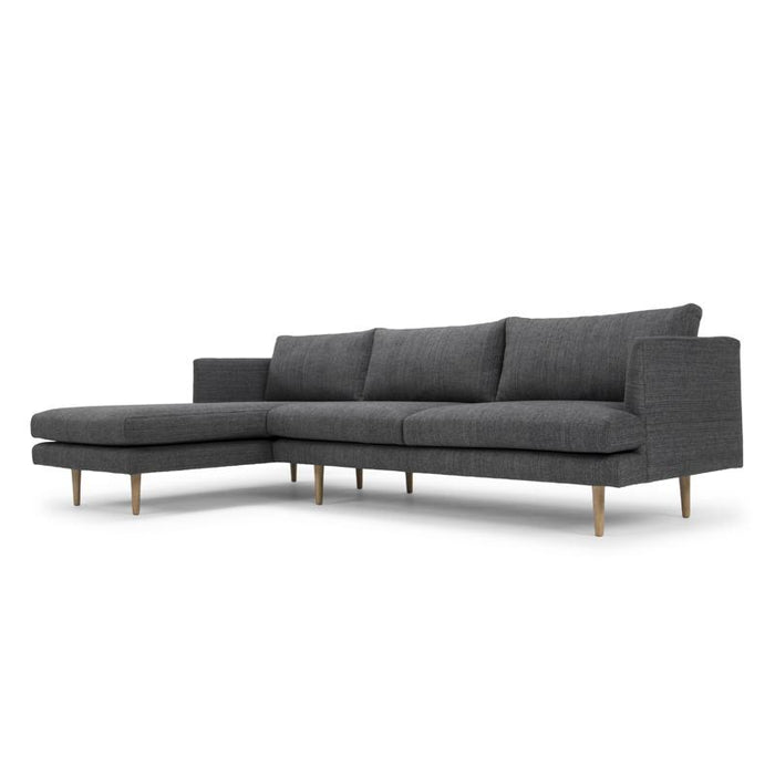 Denmark 3 Seater With Left Chaise - Metal Grey