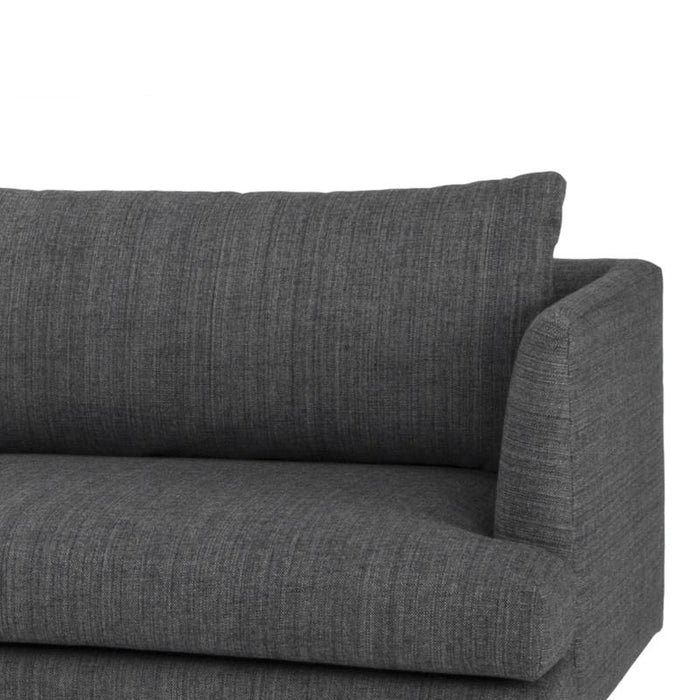 Denmark 3 Seater With Right Chaise - Metal Grey